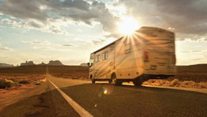 Sell My RV Online for Cash - Photo of RV on the road